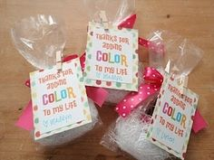 """Nail Polish Valentines + """"Thanks for adding color to my life"""" message"""