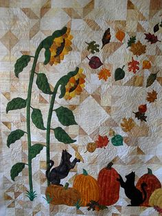 I adore the pieced bkgd     Pieced by Terri Kilgroe  Quilted by Jessica's Quilting Studio