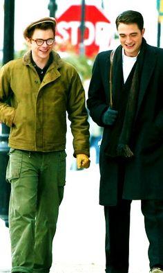Robert Pattinson and Dane DeHaan on Life set, 3/4/14