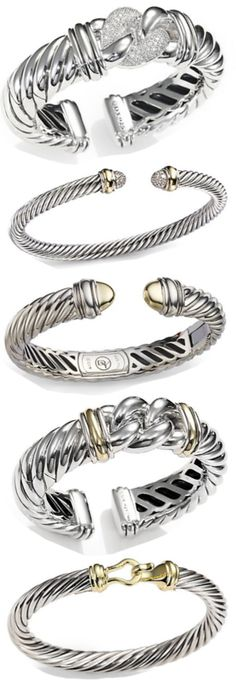David Yurman. Cant help the fact I have expensive taste I will take all of these if someone wants to fork over a couple thousand dollars?! Anyone? No?