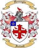 Hennagin Family Crest from Ireland