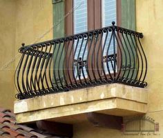 ... Aluminum Balcony Railing w/Upper and Lower Scrolls (#R-7) ...