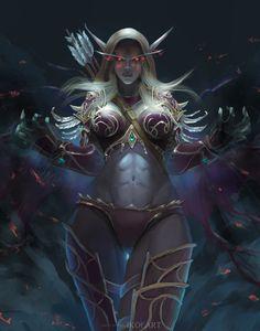 sylvanas windrunner portrait by cutesexyrobutts on DeviantArt Fantasy Art Women, Dark Fantasy Art, Fantasy Girl, Fantasy Artwork, Elves Fantasy, Anime Fantasy, Warcraft Art, World Of Warcraft, Fantasy Character Design