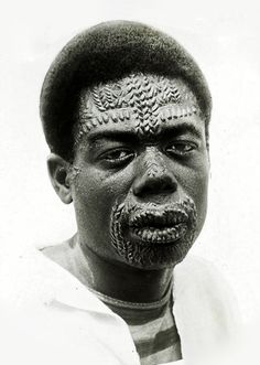 """congo-mondele: """" Black and white lantern slide showing a Congolese man with designs made on his face through the process of scarification, colonial Belgian Congo. African Life, African Culture, African History, African Tribes, African Diaspora, Afro Punk, Piercings, Culture Art, Many Faces"""