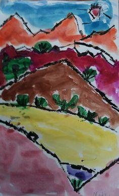 Paul Klee Painted Desert for Third Grade desertplants desert plants preschool Paul Klee, Primary School Art, Elementary Art, Kindergarten Art, Preschool Art, 4th Grade Art, Third Grade, Fourth Grade, Art Lessons For Kids