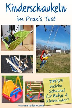 Welche Schaukel gefällt Babys? Welche Kinderschaukel ist gut? Hier findest du jede Menge Tipps, Infos und mehrere Kleinkindschaukeln im Praxis Test ... Praxis Test, Park, Baby & Toddler, Kid Birthdays, Gifts, Toddlers, Xmas, Parks