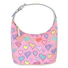 Dooney & Bourke Pink Hearts Bucket