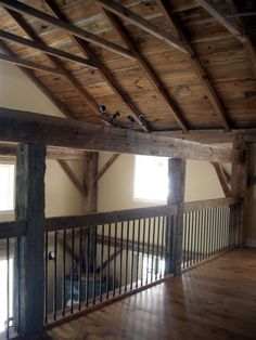 post and beam loft railing