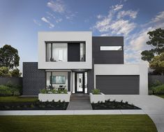 Supplied image from Boutique Homes of the Grange 4 Design Exterior, Facade Design, Modern Exterior, Style At Home, 2 Storey House Design, Modern House Design, Duplex Design, Home Modern, Boutique Homes