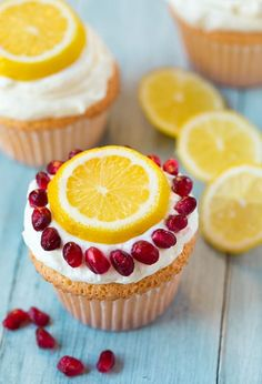 Have you made angel food cupcakes yet? If not, then put these on the top of your to make list. They'll definitely brighten up these cold and cloudy winter