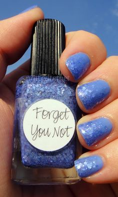 Forget You not over Essie Barefoot in Blue