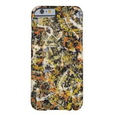 Jackson Pollock - The Famous Abstract Painting Barely There iPhone 6 Case #slimiphone6case #best #cool #amazing #iphone #6 #cases #case #awesome #personalized #personalize #customizable #customize #add #photo #text