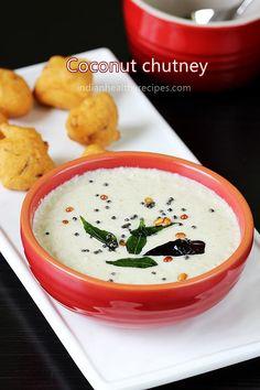 coconut chutney for idli - chutney coconut ; coconut chutney for dosa ; coconut chutney for idli ; Indian Food Recipes, Vegetarian Recipes, Cooking Recipes, Indian Snacks, South Indian Chutney Recipes, Meal Recipes, Vegan Vegetarian, Salad Recipes, Idli Chutney