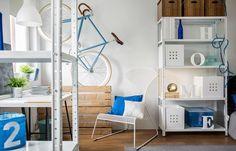 De nombreux meubles modernes et astucieux sont adaptés aux petits appartements. © Photographee.eu