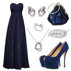Things I like Kaizen, Evening Dresses, Prom Dresses, What To Wear Today, Western Outfits, Navy Blue Dresses, Elegant Dresses, Outfit Sets, Ball Gowns