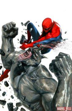 Rhino vs. Spider-Man by Gabriele Dell'Otto