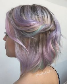 Hairstyles 2020 Trends Pastel Balayage Bob For Thin Hair.Hairstyles 2020 Trends Pastel Balayage Bob For Thin Hair Balayage Bob, Purple Hair, Ombre Hair, Blonde Hair, Emo Hair, Ash Blonde, Green Hair, Cabello Opal, Pastel Rainbow Hair