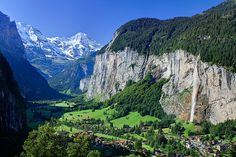 Lauterbrunnen, Switzerland. I miss waking up to the sound of cow bells!