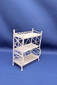 miniature wicker shelf