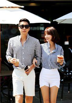 Hombre y mujer vestidos igual