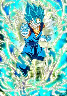Goku Blue, Gogeta And Vegito, Anime Crossover, Dragon Ball Gt, Art Drawings Sketches, Anime Shows, Anime Manga, Animation, Illustration