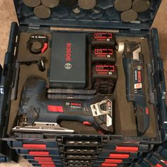 Just a small revision to my insert. In doing so, added room for one more battery and more jigsaw blades.