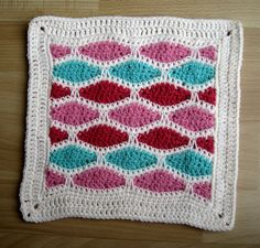 """Ravelry: Stained Glass Square - 12"""" square by Melinda Miller"""