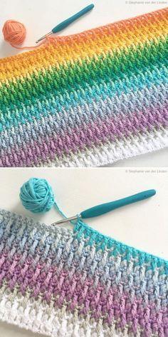 Alpine Stitch by Stephanie Linden Knitting TechniquesKnitting HatCrochet Project. Alpine Stitch by Stephanie Linden Knitting TechniquesKnitting HatCrochet ProjectsCrochet Stitches # Crochet Afghans, Crochet Stitches Patterns, Baby Blanket Crochet, Crochet Designs, Knitting Patterns, Free Knitting, Diy Crochet Blankets, Free Doily Patterns, Knitting Beginners