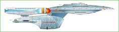 Starboard Schematic of U.S.S. Enterprise NCC-1701 C