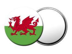 M097 Magoo Wales Cymru Flag TRAVEL MIRROR with Luxury Gift Pouch.: Amazon.co.uk: Beauty