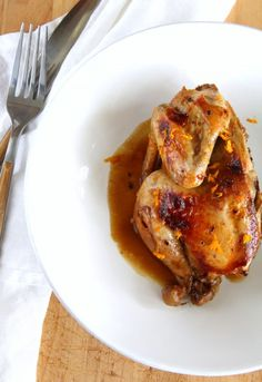 Orange-sauced Cornish Game Hens make an elegant poultry dinner for a special night in, or when you want to impress your family or guests. Don't tell anyone the slow cooker made it easy.