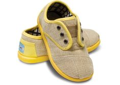 Yellow Maddox Tiny TOMS How very cute