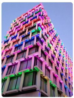 Perth Council House, very colourful and three dimensional with a lot of windows