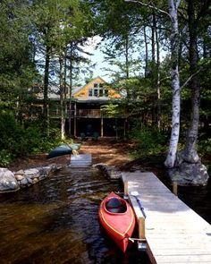 New Hampshire timber frame lake home
