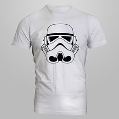 Starwars trooper mask-Heavy Cotton Classic Fit Adult T-Shirt-silkscreen by AceCustomsSilkscreen on Etsy