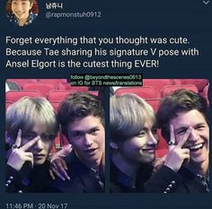 Amstel Elbert looking like a proud mom during BTS's performance at the AMAs 2017 is life❤️