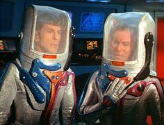 Kirk and Spock in hostile environment ...