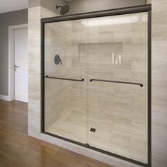 Celesta Semi-Frameless Sliding Shower Door,Fits 56-60 inch opening, Clear Glass, Oil Rubbed Bronze Finish at Menards®: Celesta Semi-Frameless Sliding Shower Door,Fits 56-60 inch opening, Clear Glass, Oil Rubbed Bronze Finish - $773