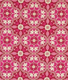 Joel Dewberry Historic Tile Plum Fabric