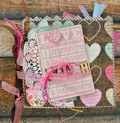 Mini album created with DCWV's Vintage Collector collection by Sara