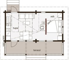 Nalle 30F Bungalows, Feng Shui, Guest Cabin, Small House Design, Small House Plans, Home Projects, Tiny House, New Homes, Floor Plans