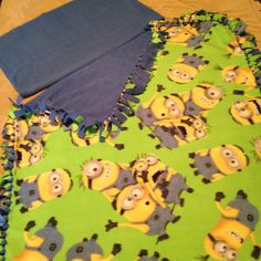 Fleece Minion Handcrafted Blanket with FREE Matching Pillowcase by CountrySnuggles on Etsy