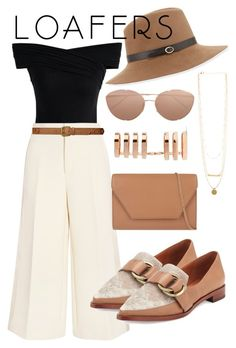 """""""loafers"""" by couturetycoon ❤ liked on Polyvore featuring Chicwish, Joseph, 10 Crosby Derek Lam, Lauren Ralph Lauren, MaxMara, Inverni, Repossi and Linda Farrow"""