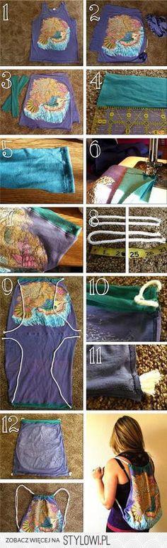 torebka/plecak z koszulki