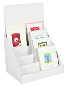 How to make a greeting card display stand by nkolika anyabolu compact cardboard greeting card display stands 4 tier counter or table top m4hsunfo