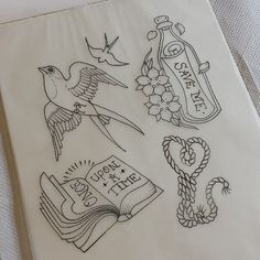 mothers-ruin:   Some new pieces I'd like to tattoo, get in touch lozzy_locks@hotmail.com