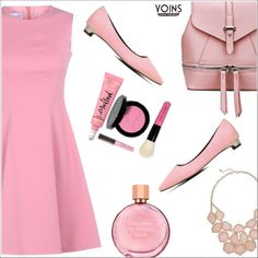 Yoins in pink by simona-altobelli on Polyvore featuring polyvore, fashion, style, RED Valentino, Bobbi Brown Cosmetics, Laura Mercier, Estée Lauder, clothing, yoinscollection and loveyoins