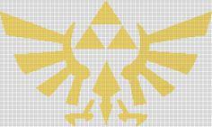 Zelda crest cross stitch pattern