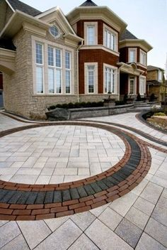 To prevent brick pavers from shifting and having weeds, moss and grass from growing in the joints it is important to have brick paver joints filled with sand. Paver Protector offers joint resanding services for patios, driveways etc. Brick Paver Driveway, Modern Driveway, Driveway Design, Concrete Driveways, Concrete Patio, Patio Design, Diy Driveway, Patio Stone, Driveway Ideas