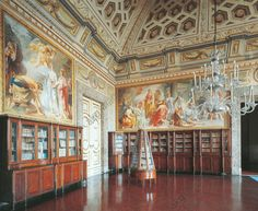 AKG-imágenes -The Library, Royal Palace of Caserta (UNESCO World Heritage List, 1997), Campania.